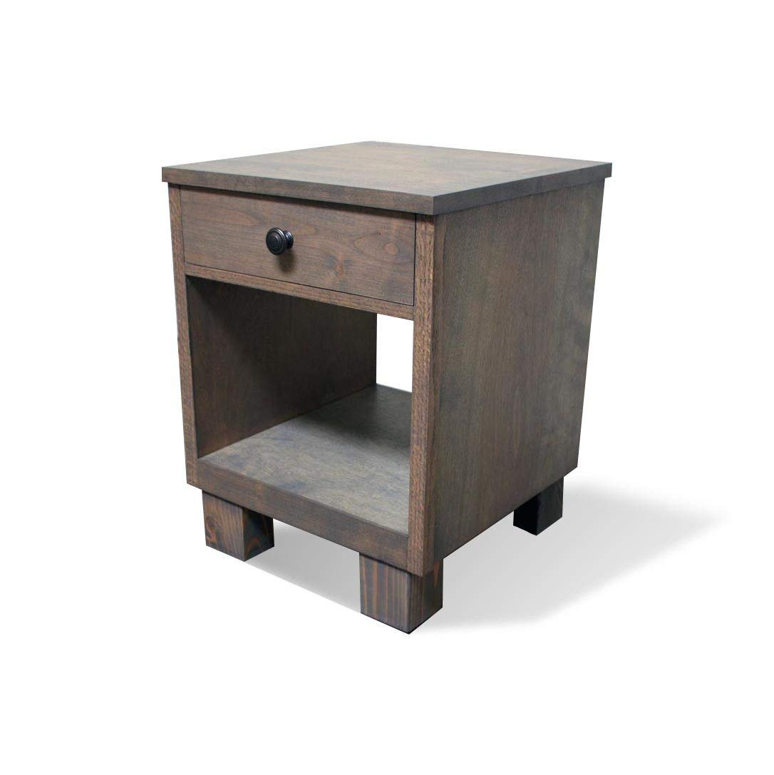 rustic nightstand with small drawer farmhouse end bedroom tables table handmade stone accent unique wood side broyhill square coffee large lamps italian oval occasional slate grey