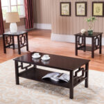 sabina piece dark cherry wood occasional cocktail coffee end tables set with storage shelf living room furniture stickley polish acme city ave ethan allen mahogany dresser 150x150