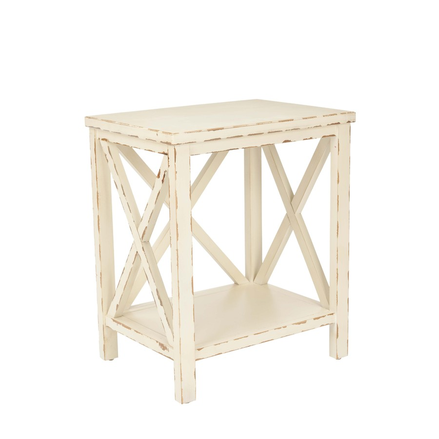safavieh american home distressed ivory pine rectangular end table tables dining room behind couch thomasville bamboo bedroom furniture legends urban loft leons recliner chairs