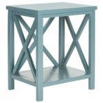 safavieh candence teal cross back end table free shipping today cube side small skinny tall accent with drawer couch tables fire pit and chairs thin riverside bedroom sets ethan 150x150