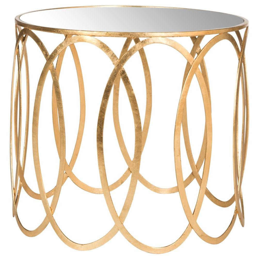safavieh cyrah antique gold leaf end table the tables west elm dresser ashley furniture extended warranty stickley upholstery with mirror cyber monday farmhouse chic coffee modern