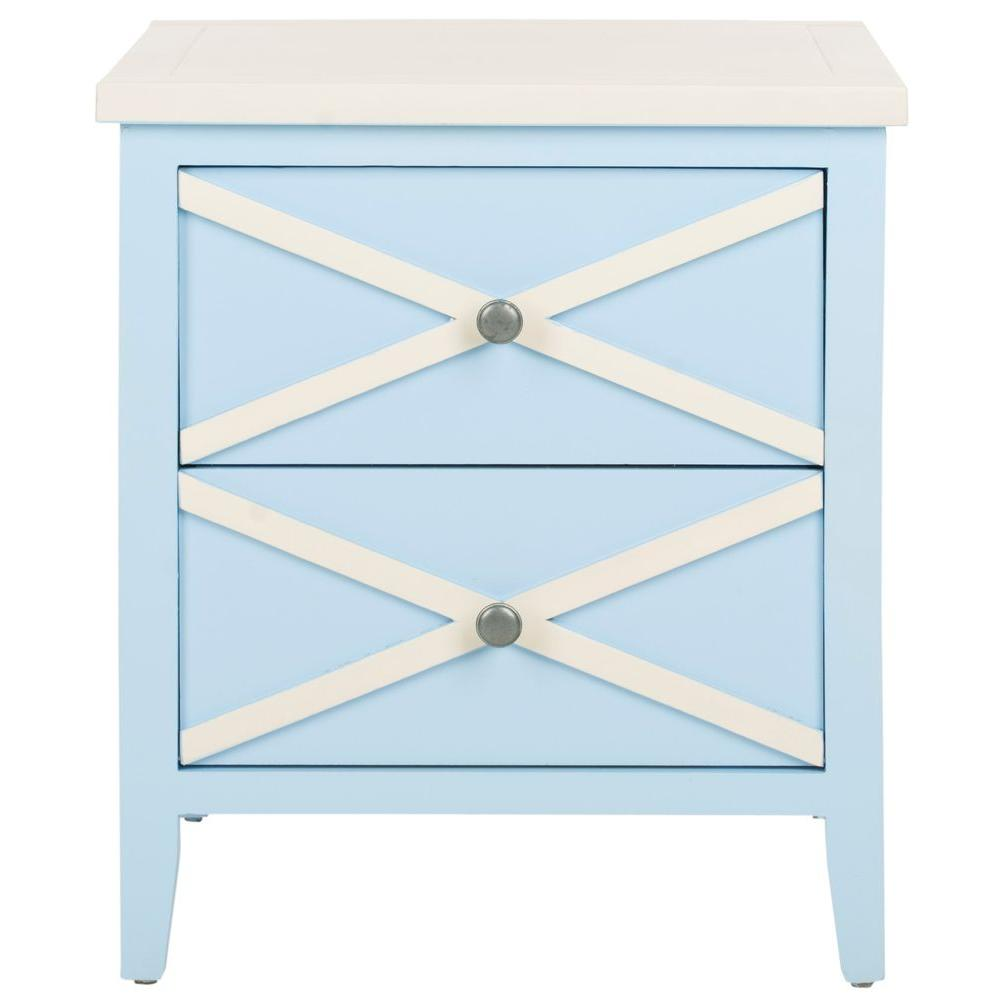 safavieh sherrilyn light blue storage side table the home end tables lexington mahogany furniture broyhill fontana iron pipe desk plans farmhouse sofas nest white occasional