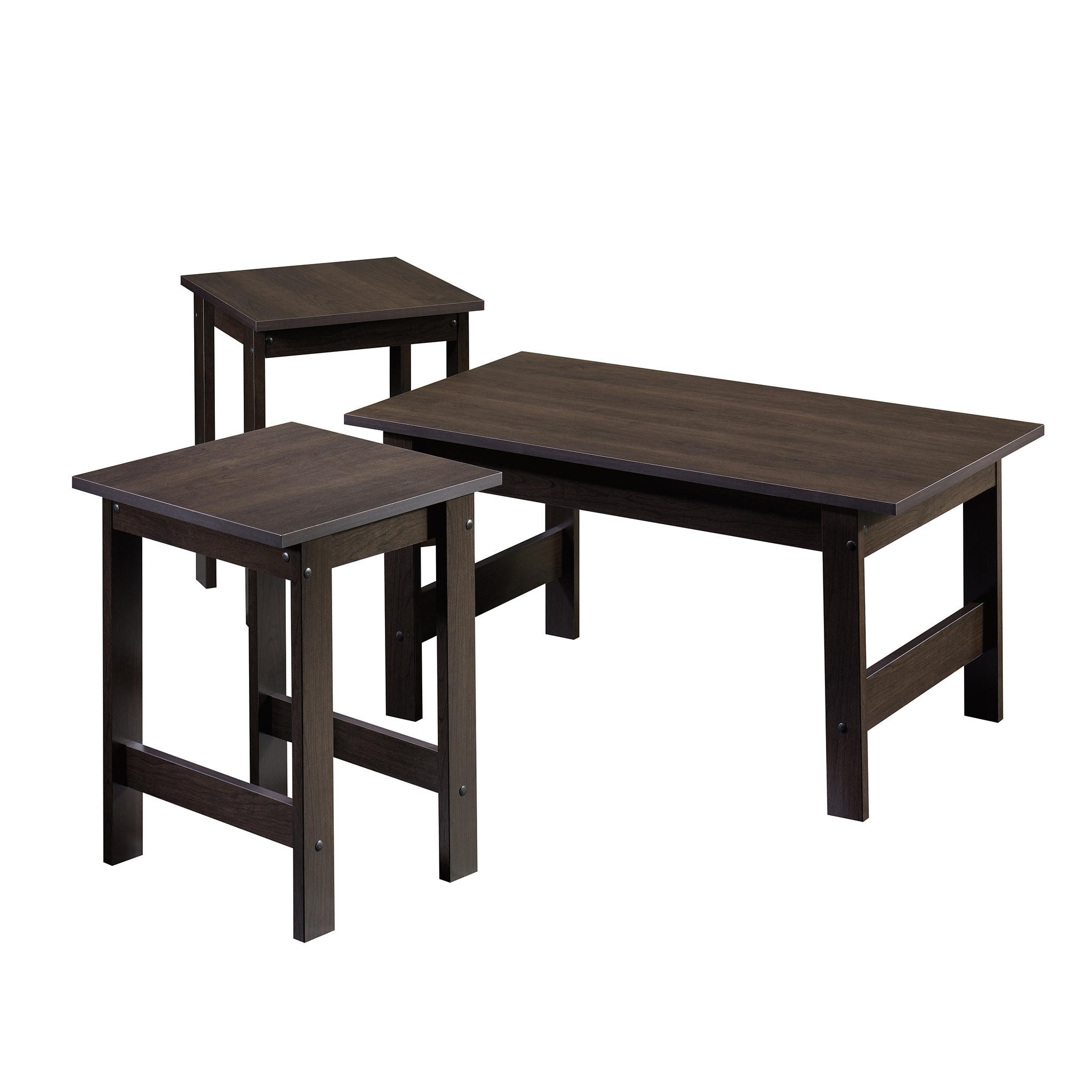 sauder beginnings pack table set multiple colors end cinnamon cherry circular outdoor ashley power black entrance ethan allen pub farmhouse legs bedside cabinets and drawers dog