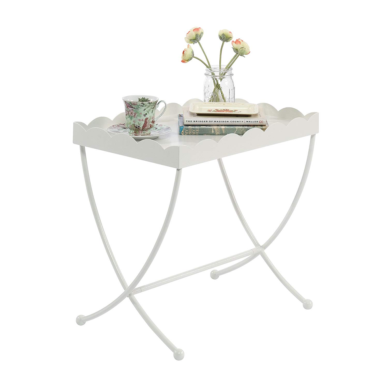 sauder eden rue side table cream colored end tables finish kitchen dining wood steel coffee decorating living room with dark brown furniture target nightstand iron glass big lots