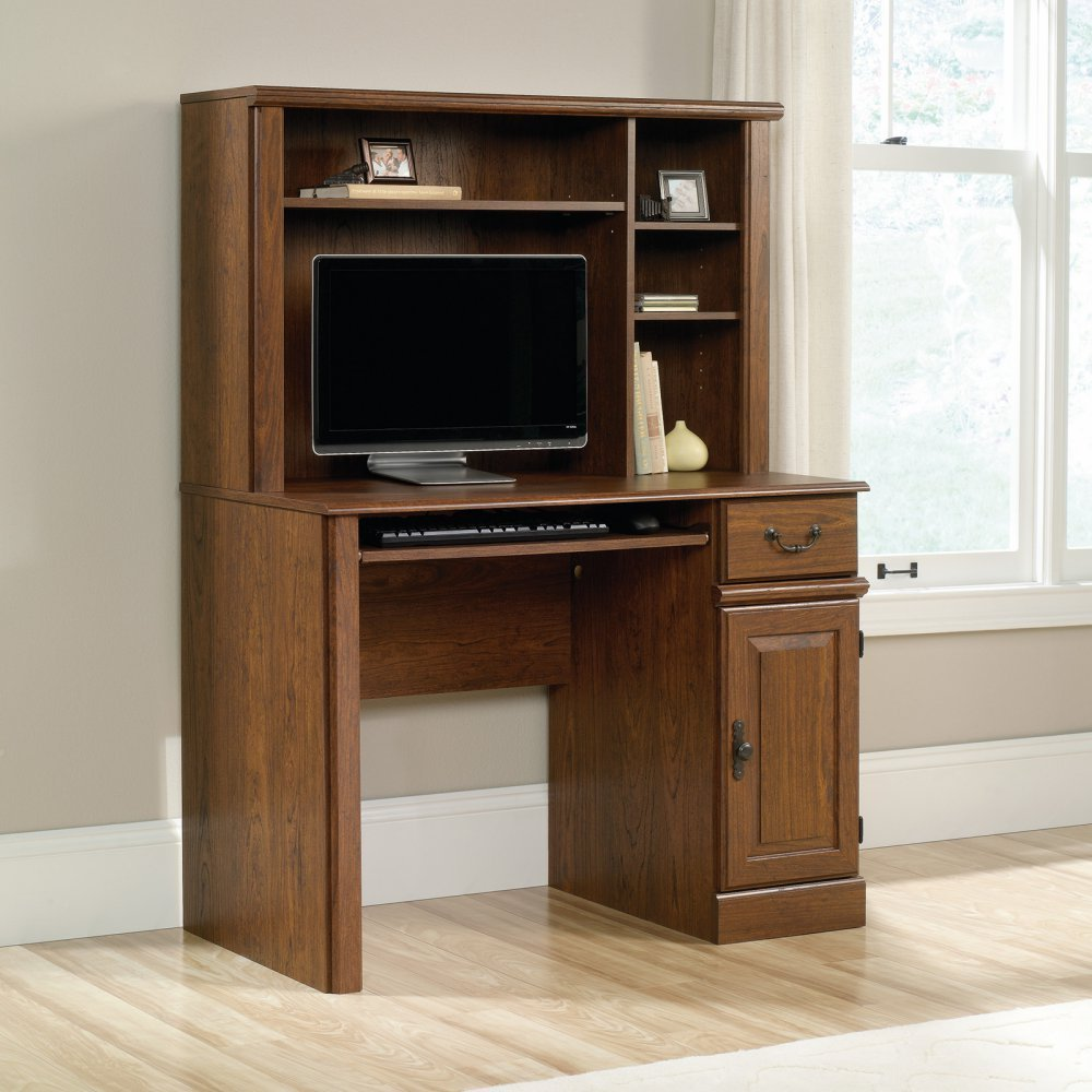 sauder orchard hills computer desk with hutch milled cherry end table details about finish new slim tables target nightstands under dollars oak and chairs black brown overstuffed