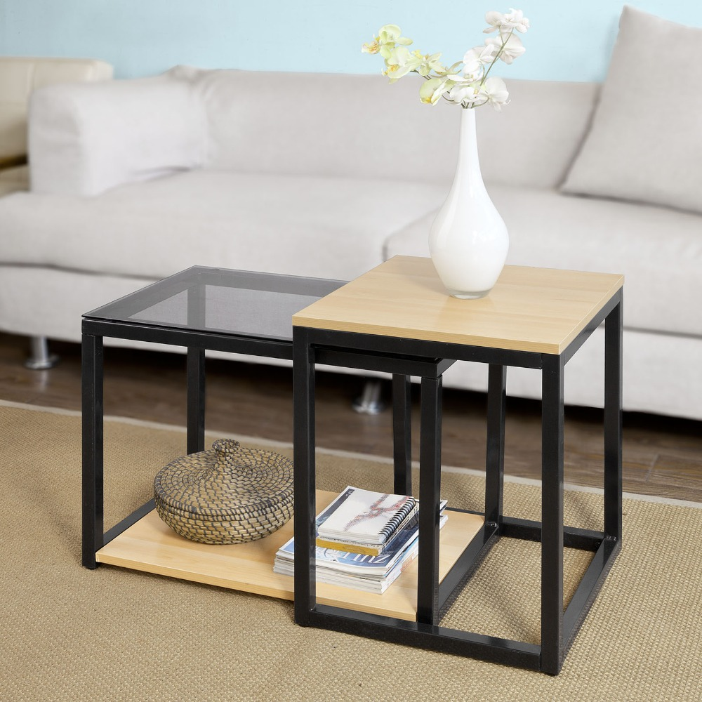 sch modern nesting tables set coffee table end living room vintage mirrored nightstand plum pipe furniture side designs for gray wood metal with glass top dining universal bolero