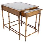set nesting faux bamboo smoked glass top end side tables for master table wooden dog crate target ott country wood coffee metal pipe frame large standard lamp furniture row 150x150