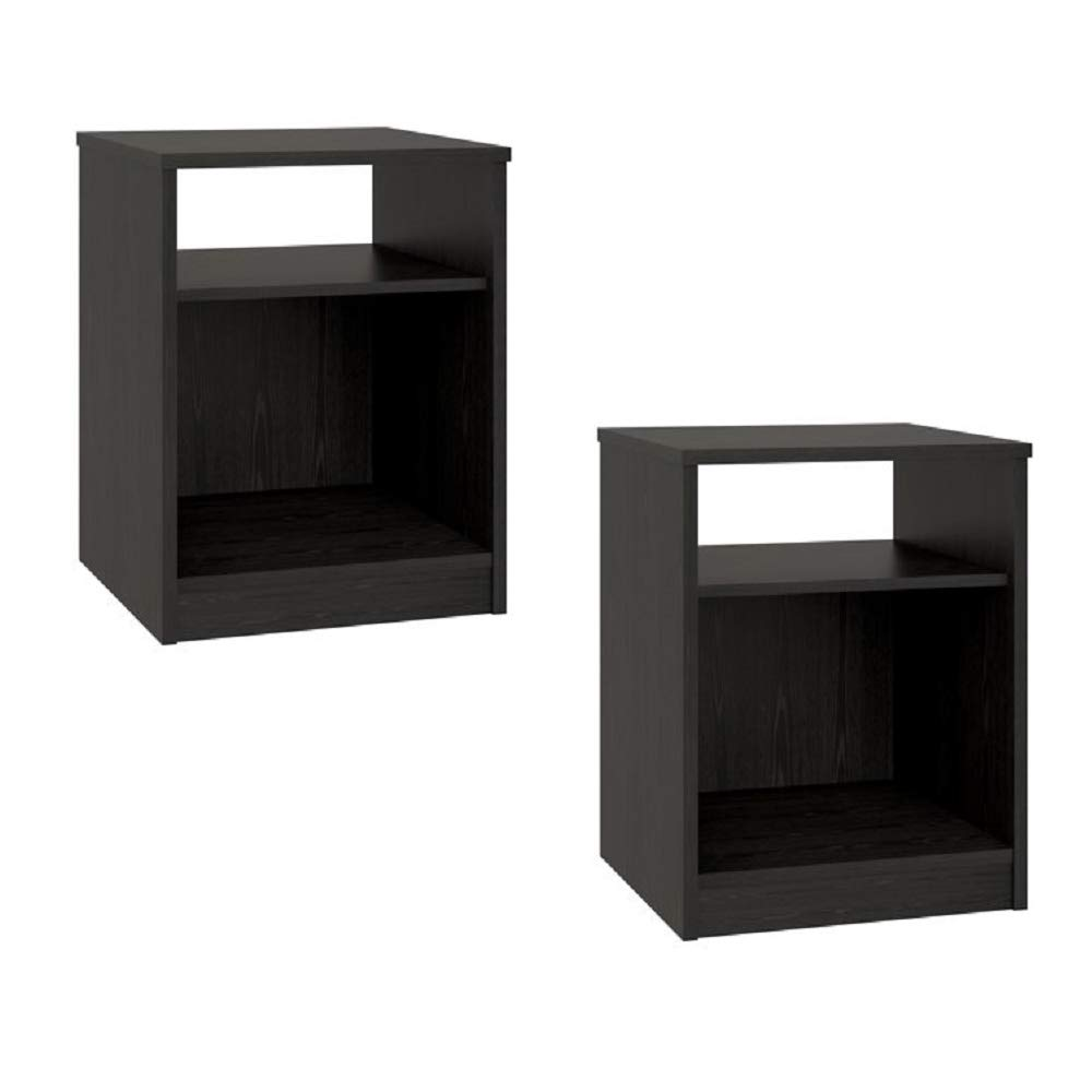 set nightstand mdf end tables pair bedroom table mainstays black furniture multiple colors gray sets open space kitchen dining quebec manufacturers suede living room ikea square