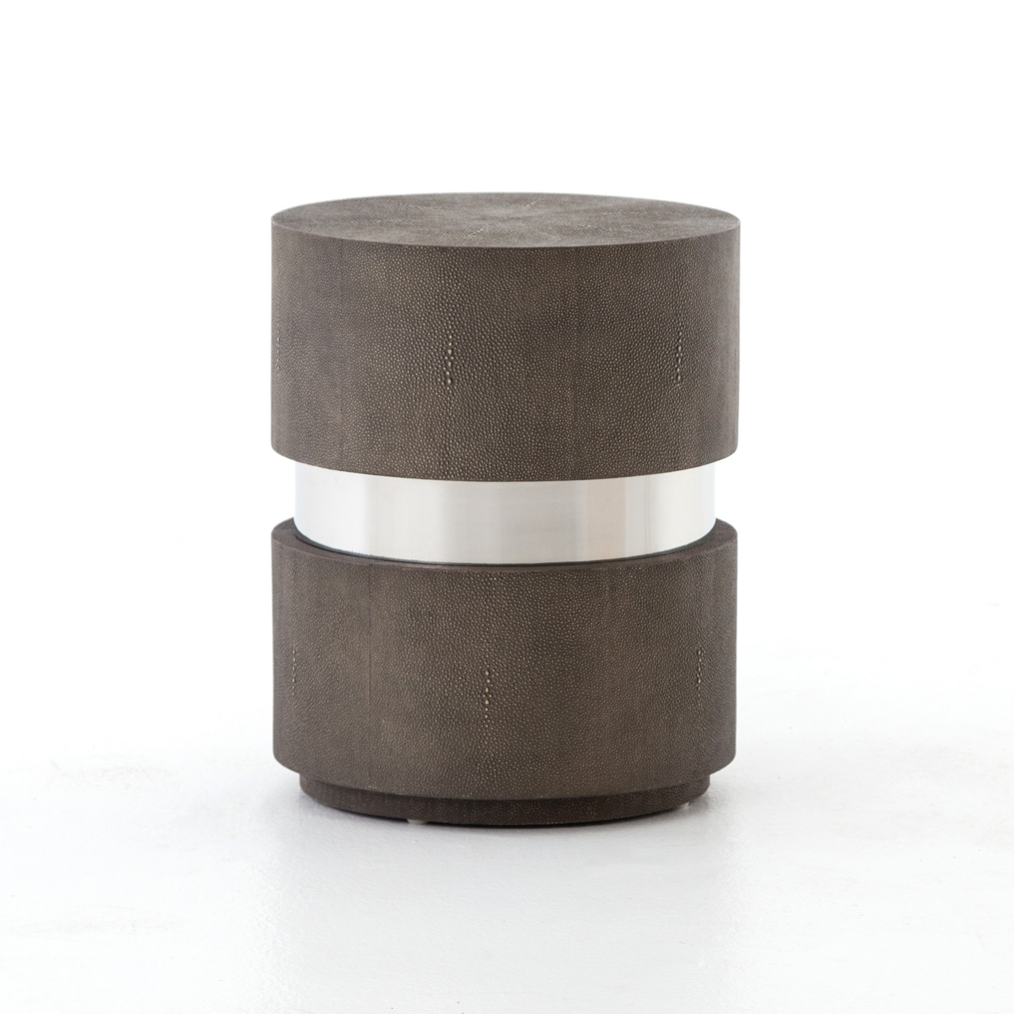 shagreen drum end table whalen vas diy pipe tutorial home page rising coffee knotty pine dining room furniture tools centre zinc lifestyle couches black leather tables white