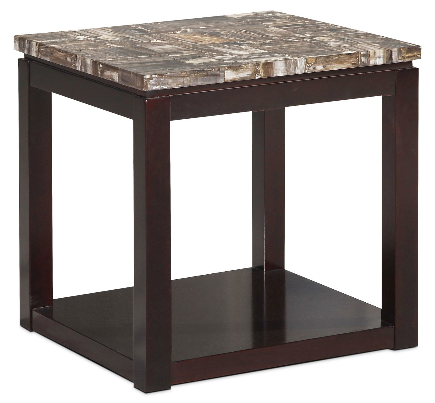 sicily end table brown the brick chocolate tables tap expand hampton bay outdoor cushions marble top round accent custom small room lamp furniture magnolia white distressed wood