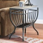 signature design ashley antigo chair side end table black slate small dark brown wrought iron and glass coffee homesense kitchen oak wedge contemporary italian furniture chalk 150x150