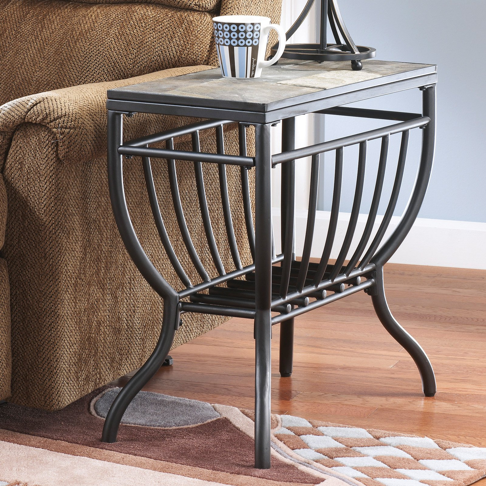 signature design ashley antigo chair side end table black slate small dark brown wrought iron and glass coffee homesense kitchen oak wedge contemporary italian furniture chalk