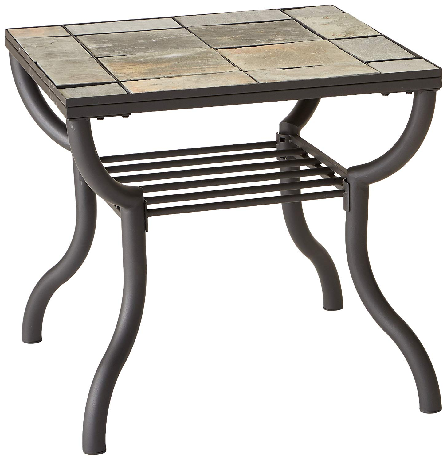 signature design ashley contemporary slated square living room slate end table home kitchen rustic shabby chic coffee solid marble dolphins bbq set ethan allen curio cabinet