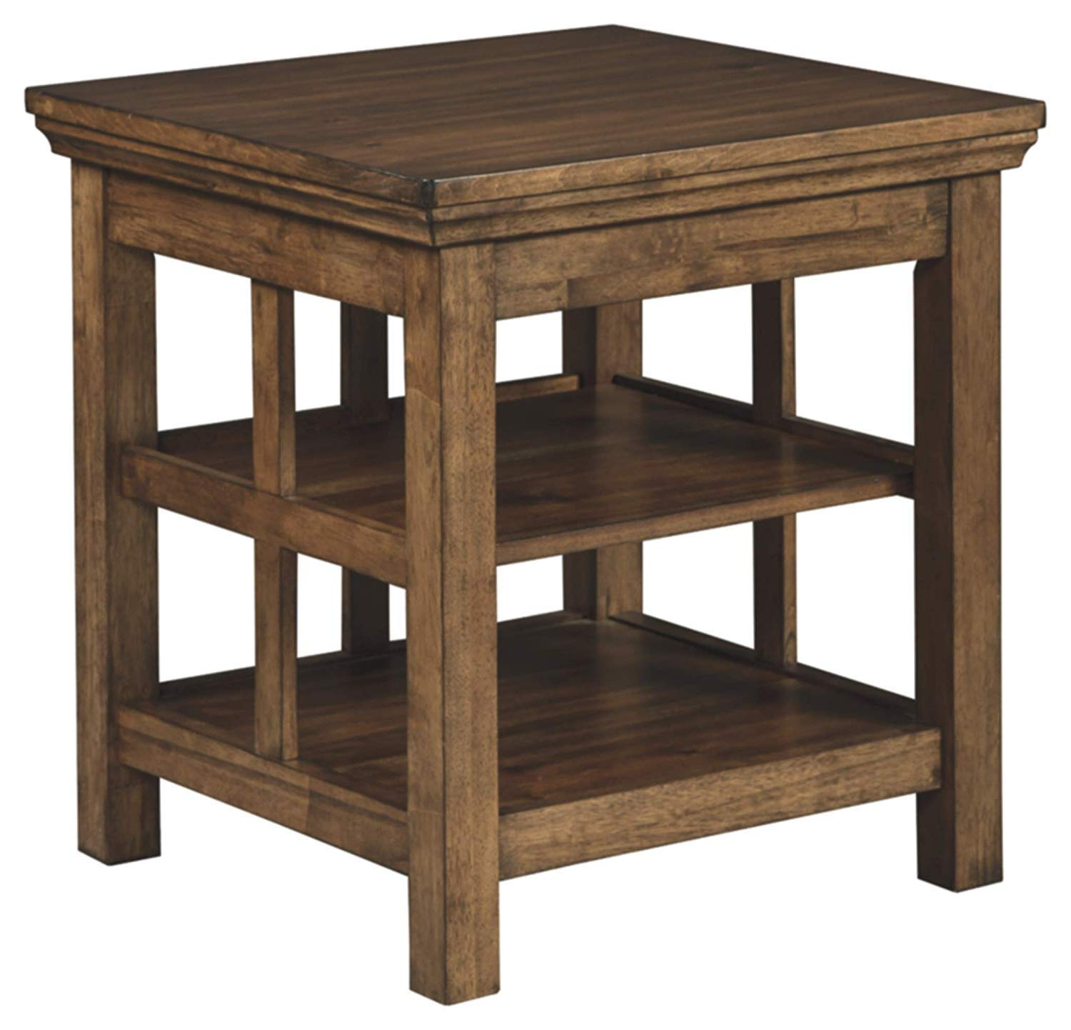 signature design ashley flynnter end table medium brown kitchen dining furniture murphy coffee set piece modern miami off distressed paint effects wood ethan allen fabrics