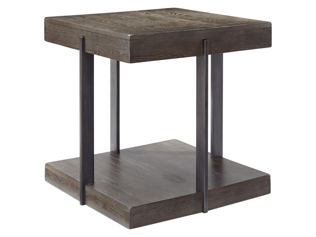 signature design ashley gantoni industrial square end table products color royal furniture tables gantonisquare faux marble side narrow glass top coffee wick leather sofa used
