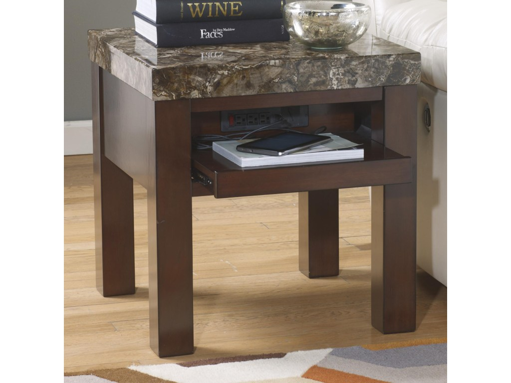 signature design ashley kraleene square end table with pull out products color royal furniture tables kraleenesquare metal glass coffee sets gray round side gold heels for prom