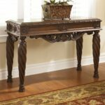 signature design ashley north shore rectangular brown sofa table end and lamp combo ethan allen mission style furniture light blue distressed dresser accessory tables dancing 150x150