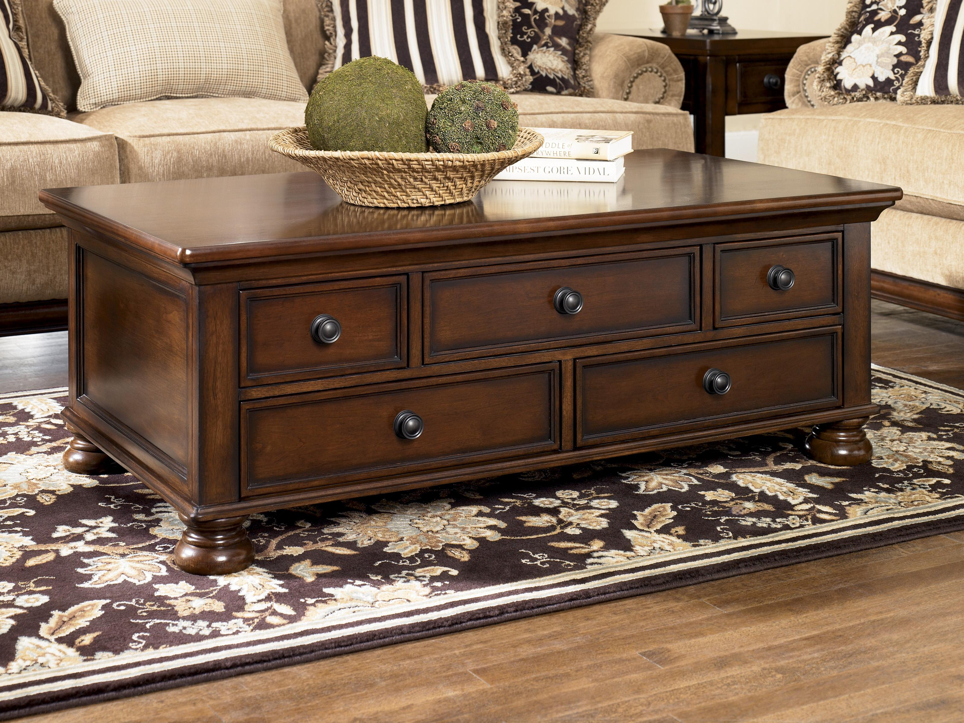 signature design ashley porter storage cocktail table with products color end drawers low narrow coffee tables london ontario magnolia home decor thomasville couches mission style