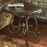 signature design ashley rafferty round end table with products color coffee tables wooden top and metal legs elephant statue cast iron ends greystone mill stone washed homesense 150x150