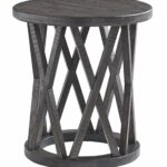 signature design ashley sharzane round end table grayish brown kitchen dining kmart indoor outdoor rugs artemide ceiling light black contemporary tables homesense watford jobs dog 150x150