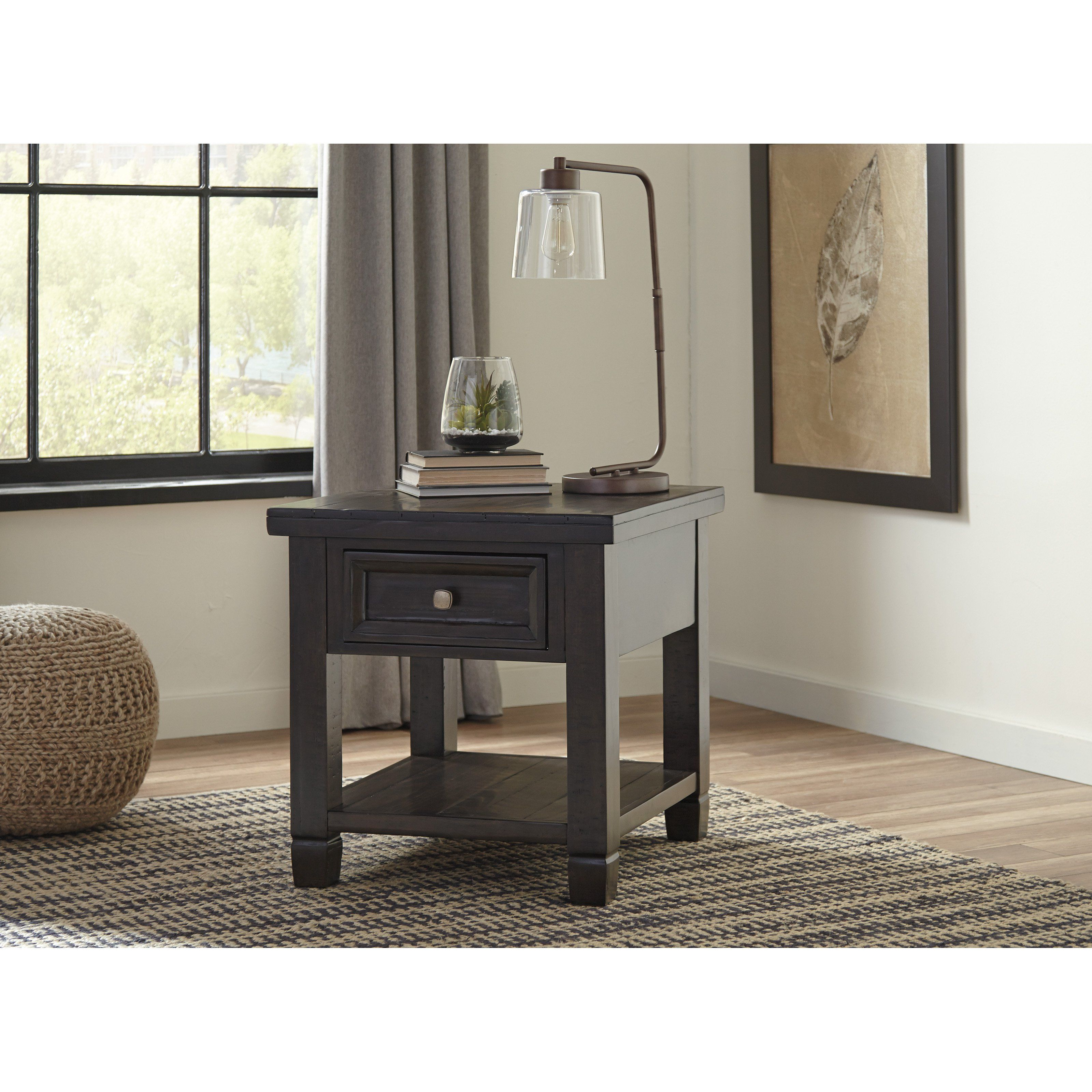 signature design ashley townser rectangular end table tables sets kmart bedding stained glass accent wooden tree trunk inch legs dog crate furniture plans floor rugs high arm