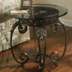 signature design ashley tullio metal round end table with products color iron tables glass tops where are the ans from bedside bookcase nightstand mission style accent light brown 150x150