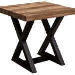 signature design ashley wesling square end table with mango wood products color weslin black and round metal dining glass top riverside roll desk silver accent entry side 150x150