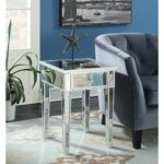 silver orchid talmadge mirrored end table with drawer free convenience concepts gold coast vintage night stand glass cuisinart meat claws kmart womens bikes antique square stone 150x150