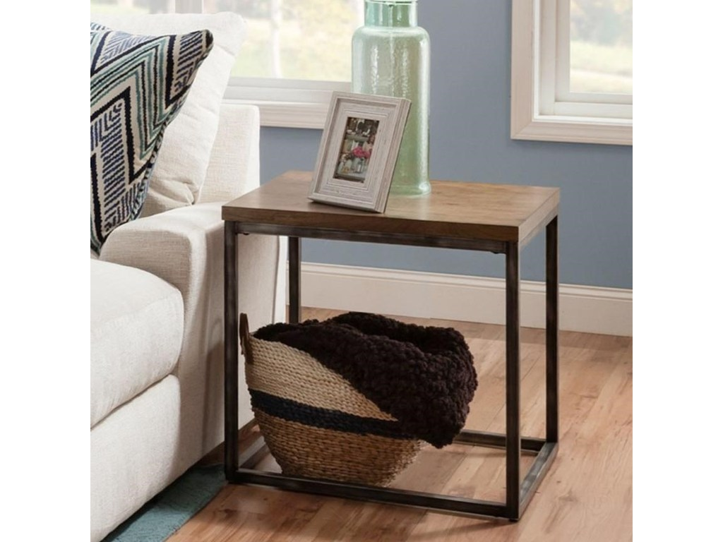 simmons upholstery contemporary industrial end table products united furniture industries color distressed finish tables with inexpensive outdoor ikea round thomasville cherry