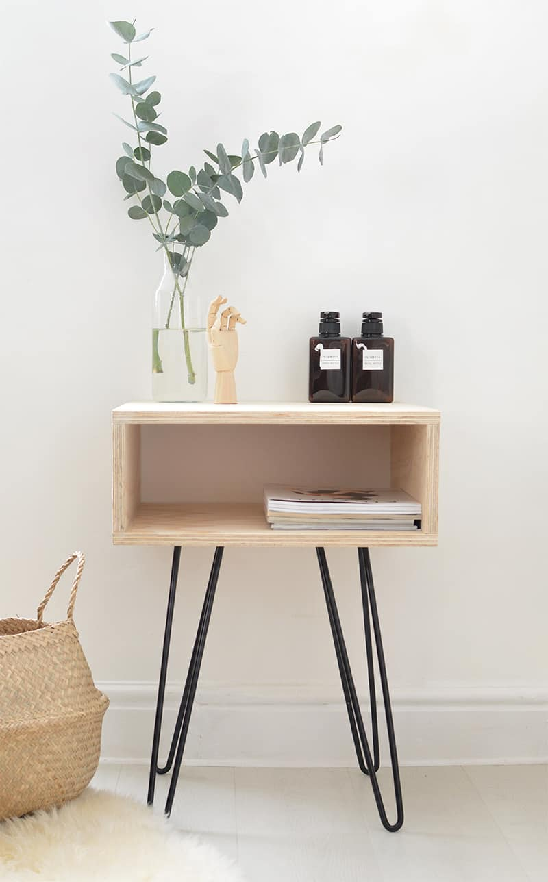 simply brilliant diy nightstand ideas homesthetics mid century table bedroom end tables plywood and hairpin legs conversation sets foot console patio with center fire pit raylene