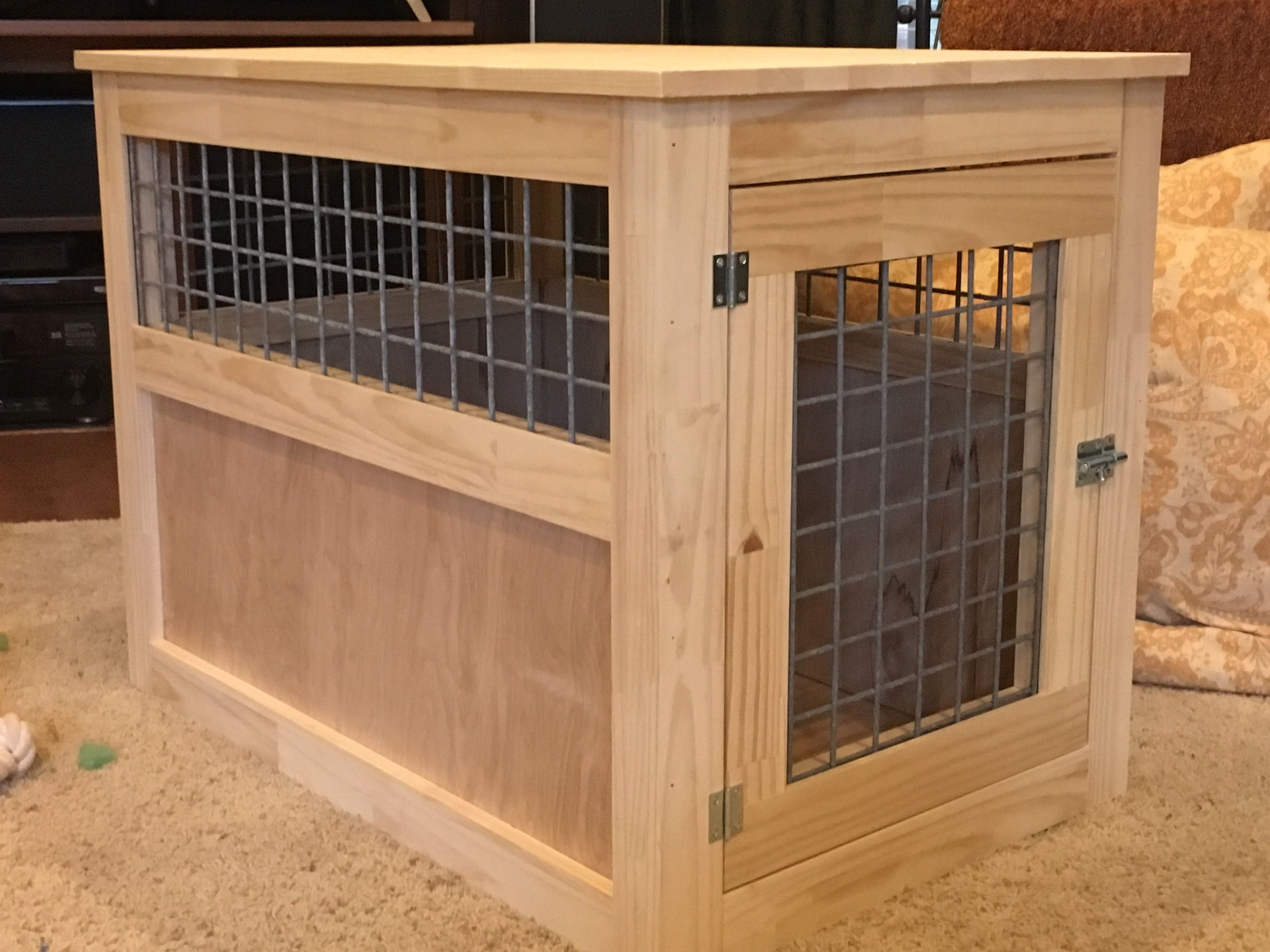 slightly altered large dog kennel end table yourself home crate plans projects from ana white lay boy sofa enclosed tables buffet cabinet nesting set coffee sets oak with storage