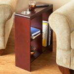 slim end table walnut with cup holders storage magazine holder sofa kitchen dining outdoor furniture replacement cushions ashley industries small metal accent galvanized pipe 150x150