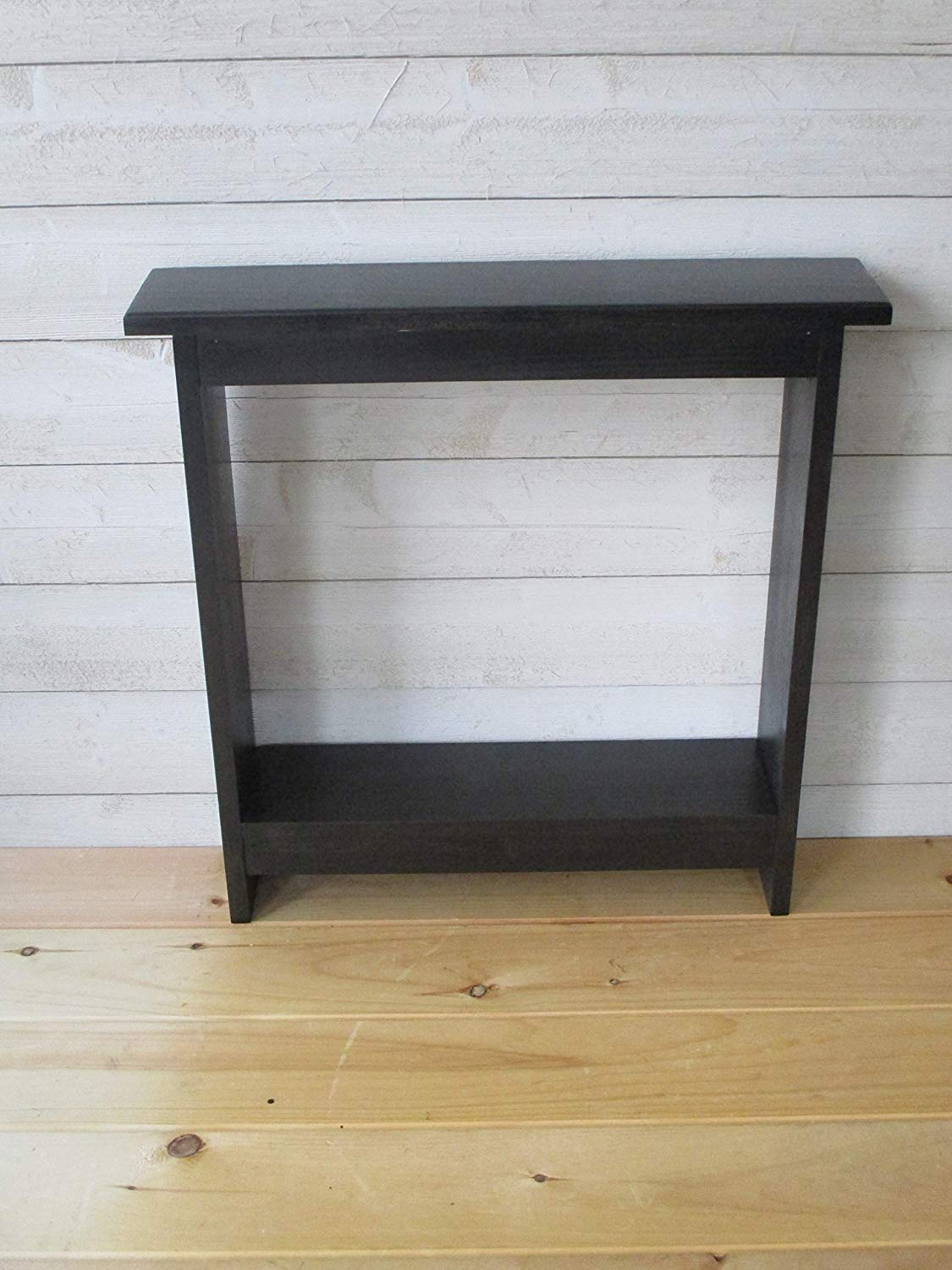 small accent table skinny side narrow end tzlanl black tables entryway rustic wood hall stain handmade farmhouse furniture magnussen albany casual coffee ethan allen nightstand