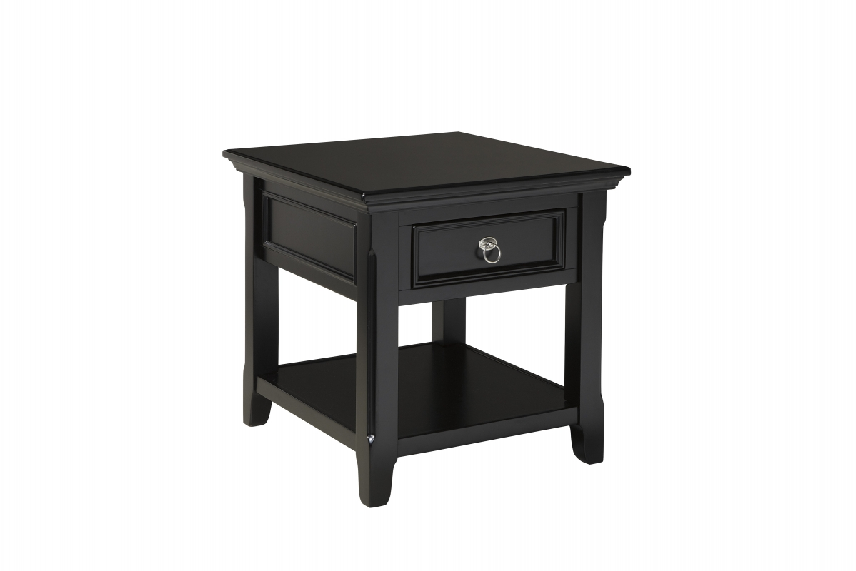 small black wooden end table with drawer nice wood tables round coffee stanley furniture armoire white lamp homesense sectional north shore ashley millennium clear glass lamps for