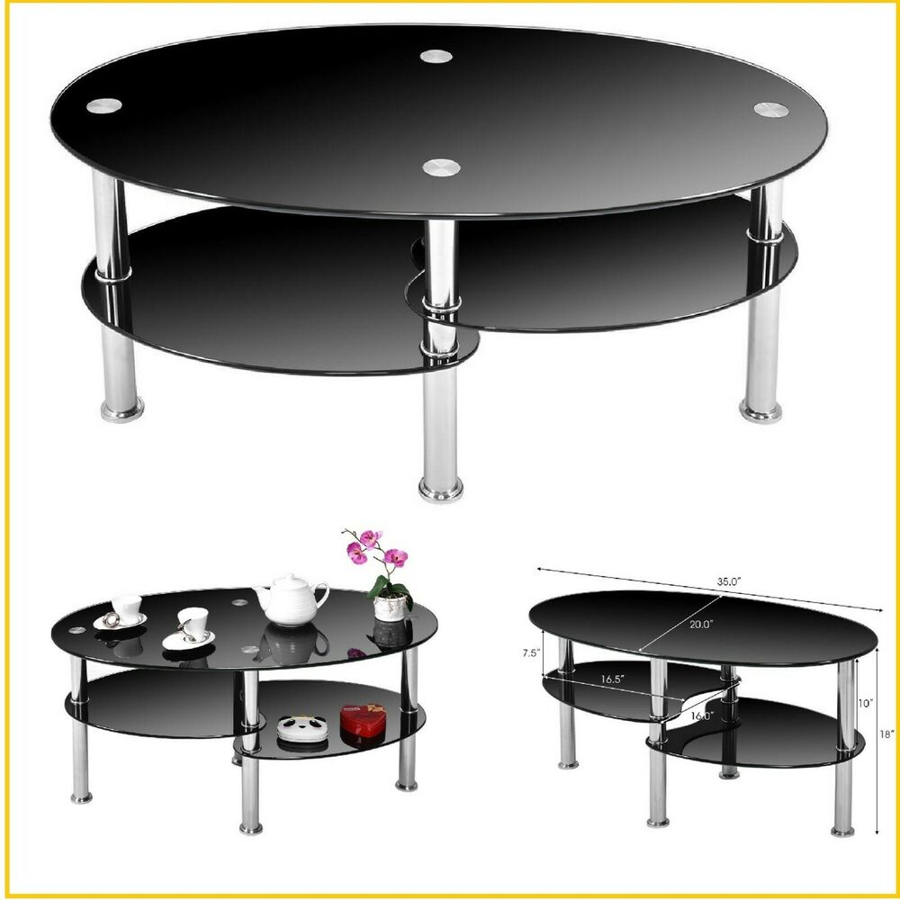 small coffee table with storage modern round glass end oval details about black tempered mosaic top patio side contemporary and tables adjustable square basket wood marble