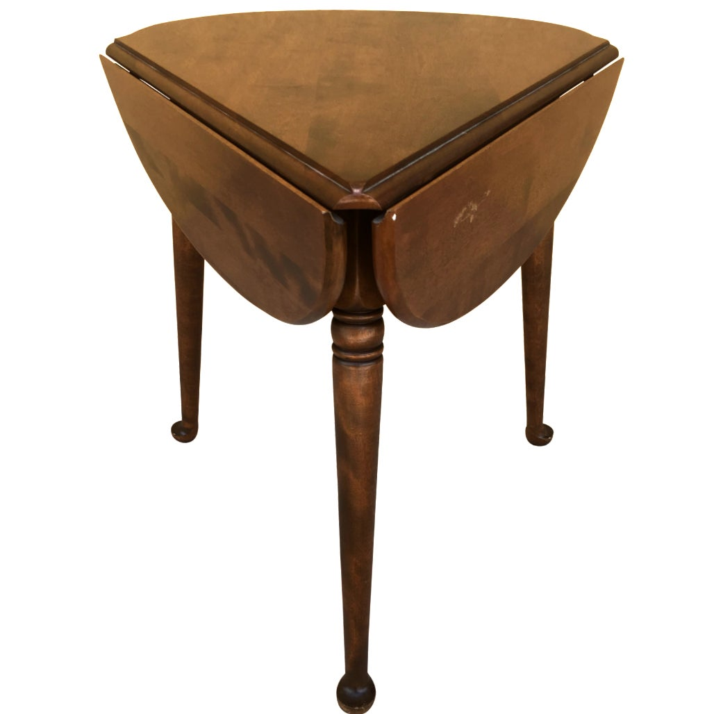 small mid century ethan allen clover drop leaf side table old end tables chairish big lots sofas reviews slim bathroom storage gold color american furniture brands mirrored