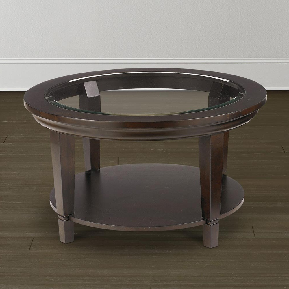 small round dark wood coffee table glass top cocktail custom with end tables sleek white plastic patio marble design log furniture vancouver home sofa set weathered oak stain pine