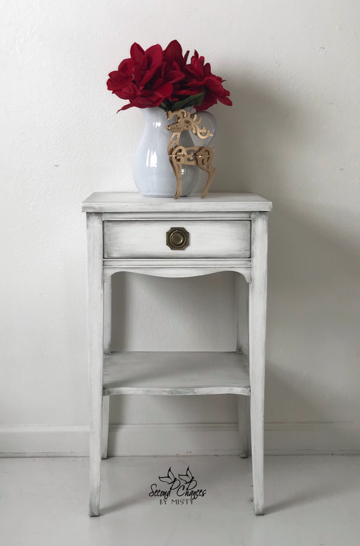 small table painted annie sloan pure white and black wax for painting end tables riverside furnishings lexington square coffee dark couch living room ideas universal furniture