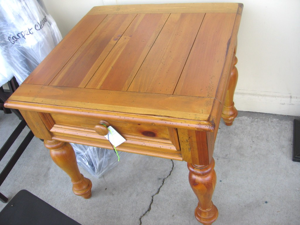 sold yorkshire market broyhill end table distressed pine flickr used tables starting with storage baskets large dog crate home furniture company espresso colored mirrored coffee