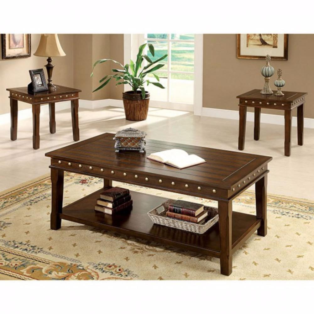 solid wood coffee end tables set dark brown pack and details about simple black nightstand hampton bay patio office table chairs cocktail with seating leather couch chair acme