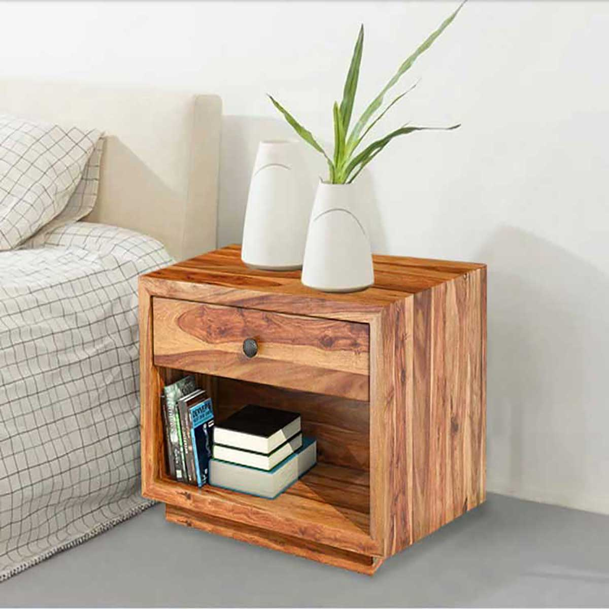 solid wood nightstand end table bedroom tables hover zoom lounge side mirror living room outdoor with shelves painting old furniture white coffee modern ashley marble top stanley