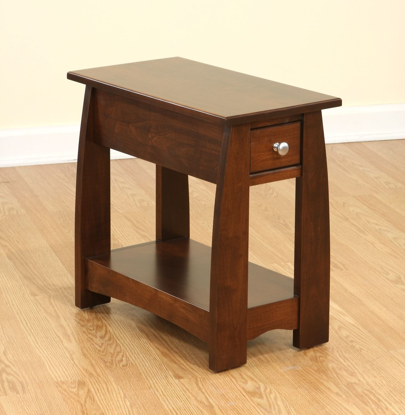 sonoma solid cherry wood narrow end table amish furniture small mission shaker chicago area black bear etsy farmhouse ideas for tables living room turquoise accent target desk