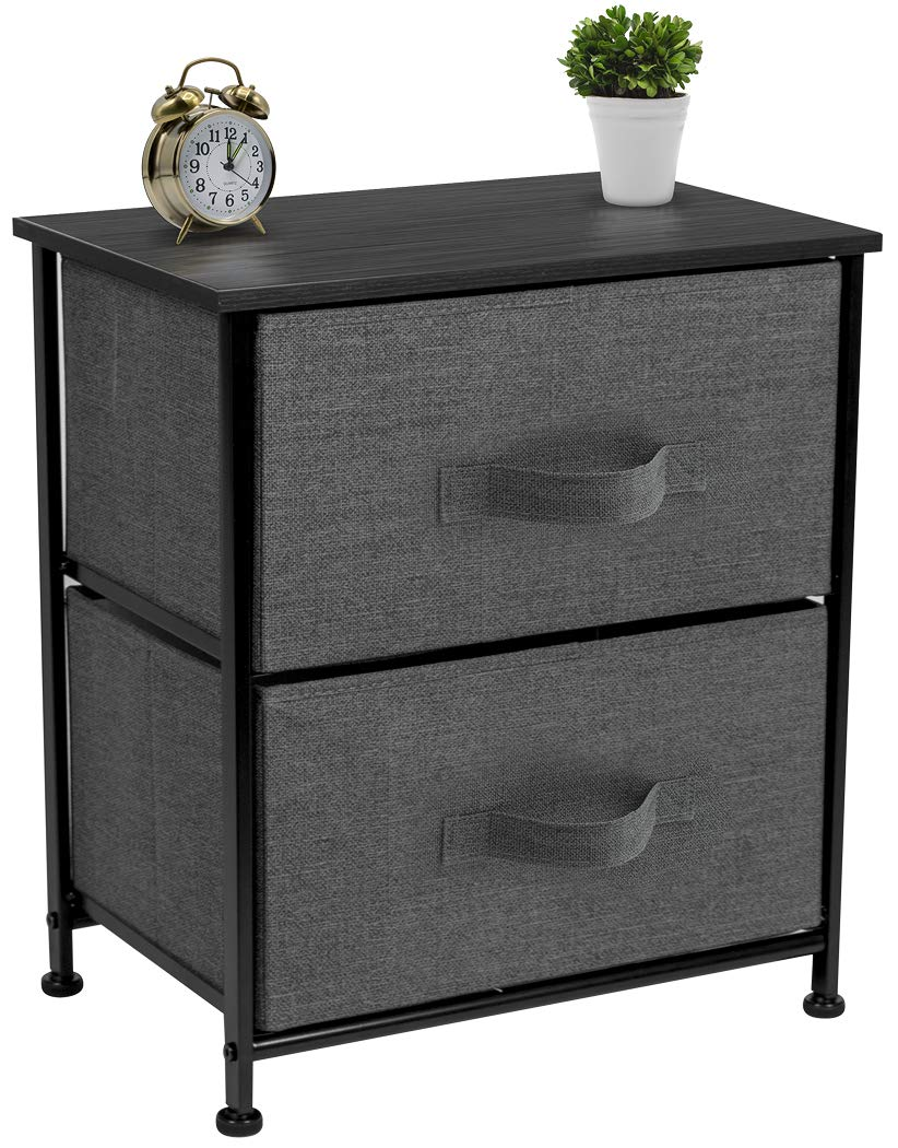 sorbus nightstand with drawers bedside furniture end table chest accent for home bedroom accessories office college dorm steel frame wood top black pipe standing desk solid pine