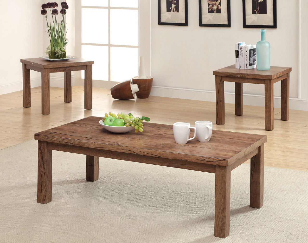 sorrel iii rustic oak solid wood table set coffee and end tables categories leons bedroom furniture extra large dog pen stanley white riverside belmeade dining pulaski settee