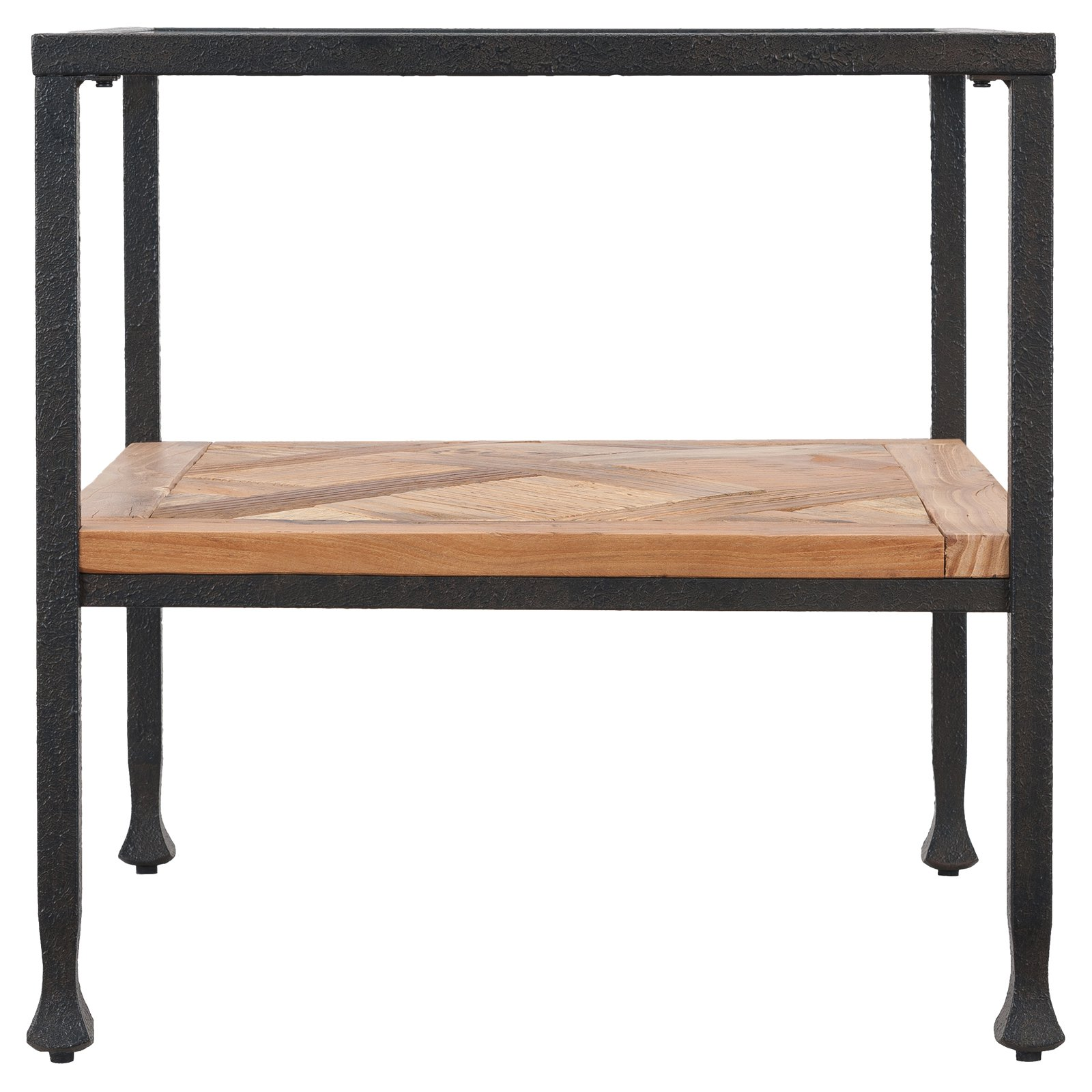 southern enterprises jogan reclaimed wood end table with glass top small round pedestal accent ana white farmhouse dining black metal pipe furniture unfinished parsons desk and