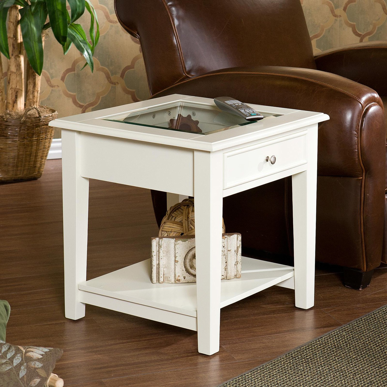 southern enterprises panorama end table off white tables furniture round plastic outdoor dog kennel side fancy pet crates sofa made from pallets coffee with shelf circular patio