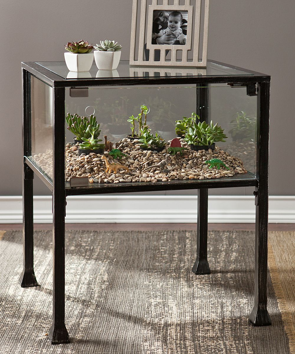 southern enterprises terrarium display end table create custom glass case accent adding your own decorative displays made natural materials chest coffee lift top winchester chair