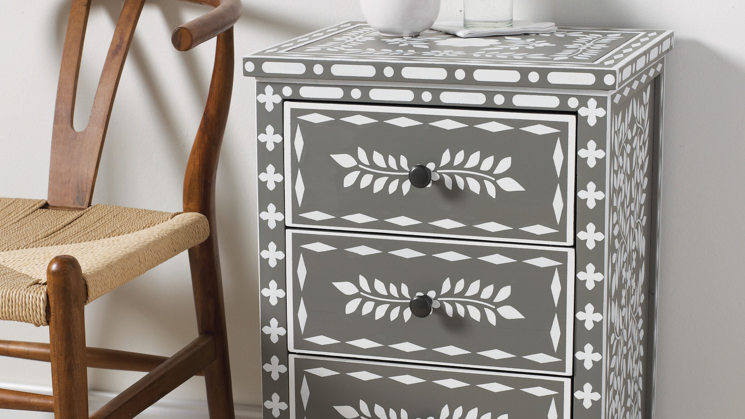 spring ping special mainstays drawer nightstand end table content stencl inlay horiz black ebony ash moroccan stenciled farmhouse wood dining diy pallet ideas antique wrought iron