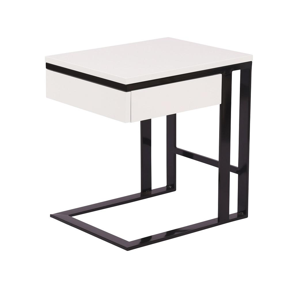 square white black side end bedside table total look design liberty furniture buffet round small patio used oak tables chainsaw log stickley desk value leick ers glass and brass