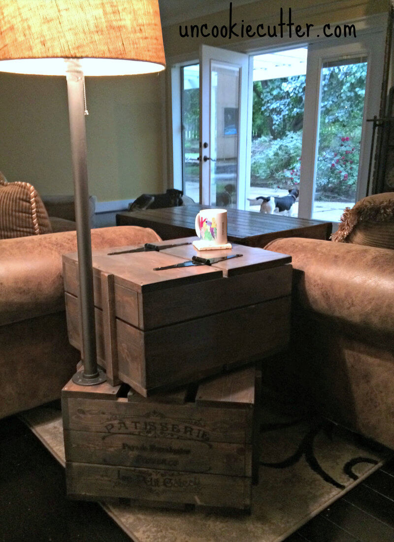 stacked crate end table free diy plans rogue engineer rsz allen side sofa with shelves pipe desk laura ashley view schedule replacement outdoor tops rustic square coffee log house